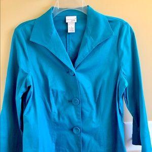 Kim Rogers blue jacket
